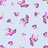 Seamless floral patter with little pink flowers Stock Images