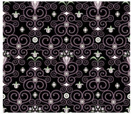 Seamless floral pattern. Seamless floral background on black background Royalty Free Stock Photo