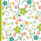 Seamless floral pattern. Illustration background Stock Photo