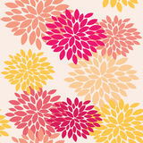 Seamless floral pattern. Bright flowers Stock Photography