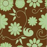 Seamless floral pattern. Seamless background with art flowers Stock Photography