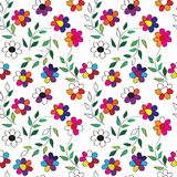 Seamless floral pattern. Seamless background with art flowers Royalty Free Stock Images