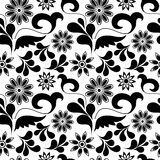 Seamless floral pattern. Seamless background with art flowers Royalty Free Stock Photo