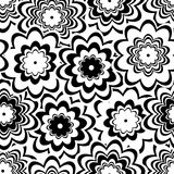 Seamless floral pattern. Seamless background with art flowers Stock Photos