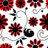 Seamless floral pattern. Seamless background with art flowers Stock Images