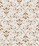 Seamless floral pattern. Elegant golden floral pattern. Seamless vector Royalty Free Stock Images