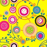 Seamless floral pattern. Seamless background with art flowers Royalty Free Stock Photography