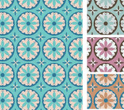 Seamless floral pattern. Set of folk motives seamless floral patterns Royalty Free Stock Photography