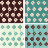 Seamless floral pattern. Set of retro seamless floral patterns royalty free illustration