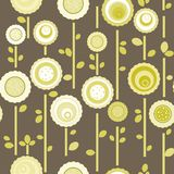 Seamless floral pattern. Abstract pattern with abstract flowers Stock Images