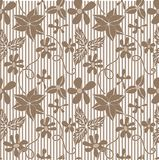 Seamless floral pattern. Brown pattern with abstract flowers Royalty Free Stock Images