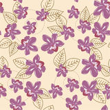 Seamless floral pattern. Spring orchids - seamless elegant floral background royalty free illustration
