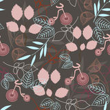Seamless floral pattern. Retro stylized seamless floral pattern stock illustration