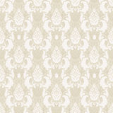 Seamless floral pattern. Damask floral seamless pattern in beige, vector Royalty Free Stock Photo