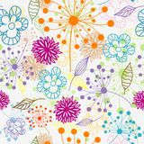 Seamless floral pattern,  Royalty Free Stock Photo