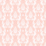 Seamless floral pattern. Damask floral seamless pattern in pink stock illustration
