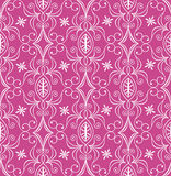 Seamless floral pattern. White on pink Royalty Free Stock Photo