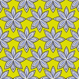 Seamless floral pattern. Seamless pattern with petals on yellow background Royalty Free Stock Photos