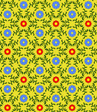 Seamless floral pattern. Composition consists of small flowers of two types and leaves Royalty Free Stock Images