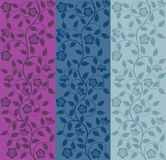 Seamless floral pattern. Retro background. Vector illustration Stock Images