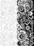 Seamless floral pattern. Retro background. Vector illustration Stock Photography