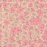 Seamless floral pattern. Seamless texture with flowers and birds. Endless floral pattern Stock Photos