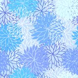 Seamless floral pattern. With flowers of chrysanthemum Royalty Free Stock Image