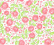 Seamless floral pattern. Vector seamless flower pattern on a white background Royalty Free Stock Photos
