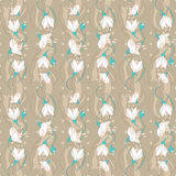 Seamless Floral pattern. On a beige background Stock Photography