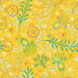 Seamless floral pattern. With leaves and flowers Stock Photos