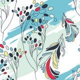 Seamless floral pattern. Art flower background. Seamless floral pattern Stock Image