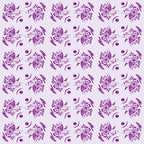 Seamless floral pattern. Vector illustration with Purple Pattern Royalty Free Stock Image