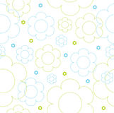Seamless floral pattern. Cute seamless vector floral pattern Royalty Free Stock Photos