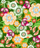 Seamless floral pattern. Very decorative seamless background pattern with flowers Royalty Free Stock Photo