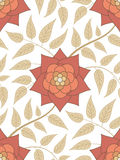Seamless floral pattern. Red flower seamless floral pattern Royalty Free Stock Photos