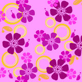 Seamless floral pattern. Wallpaper, background, decoration Stock Photo