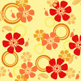 Seamless floral pattern. Wallpaper, background, decoration Royalty Free Stock Photo