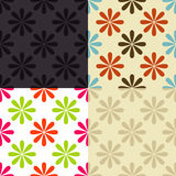 Seamless Floral Pattern. In different color sets Royalty Free Stock Image