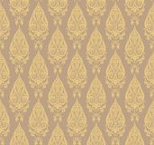 Seamless floral pattern. Abstract seamless decorative floral background in rich colors Royalty Free Stock Photo