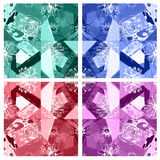 Seamless floral pattern abstract fabric background Royalty Free Stock Images