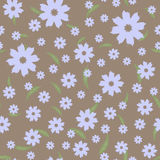 Seamless floral pattern. Abstract flowers and elongated leaves. Stock Image