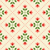 Seamless floral pattern with abstract flowers Royalty Free Stock Photos