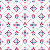Seamless floral pattern with abstract flowers Royalty Free Stock Image