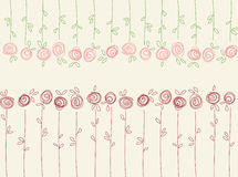 Seamless floral pattern with abstract roses flowers Stock Photo