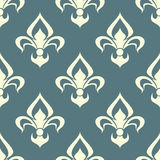 Seamless floral pattern with arabesque element Stock Photos