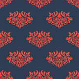 Seamless floral pattern with arabesque elements Stock Images