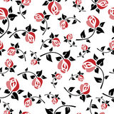 Seamless floral pattern art deco Royalty Free Stock Photography