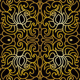 Seamless floral pattern in art deco style Royalty Free Stock Photo