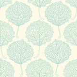 Seamless floral pattern with aspen leaves. Elegant decorative leafy background Stock Photos