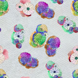 Seamless floral pattern with asters and daisy flowers Stock Photography